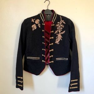 Free People Military Inspired Blazer Size S